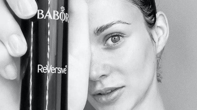 So sieht Model Kristin Geberts Anti-Aging Einsteiger Pflegeroutine mit BABOR aus!